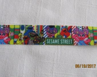 "Sesame Street 7/8"" Grosgrain Ribbon by the Yard"