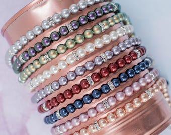 Bridesmaid Bracelet, Pearl Bracelet, Pearl Bridesmaid Bracelet, Wedding Bracelet, Bridesmaid Gift, Bridesmaid Jewellery,