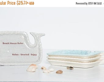 Christmas in July SALE Ceramic Spoon Rest | Pottery Whale | Spoon Rest | Handmade in my Charleston, SC studio