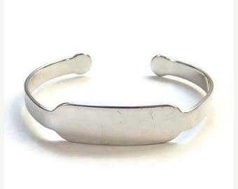 ON SALE Vintage Beau Sterling Silver Monogram ID Bracelet No Initials Signed