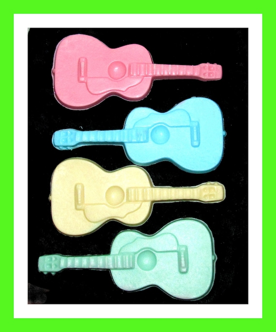 24 Large Guitar Soap Favors,Birthday Favor,Baby Shower Favor,Boy Party Favor, Guitar Theme Favor,Musical Instrument Favors