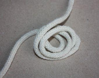 5 mm NATURAL Cotton Rope = 5 Yards = 4.57 Meters of Elegant Cotton Braided Cord - Bulky Yarn - Super Bulky Yarn - Macrame Cotton Cord