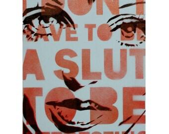 Liza Minnelli Portrait CABARET Art 11x14 Original Painting Graffiti Street Art and Pop Art Warhol Banksy Obey Style Gay Wedding Gift Queer