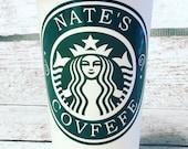 Covfefe Starbucks travel tumbler 16oz