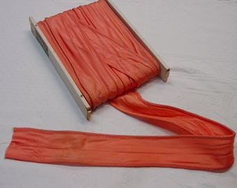 """Vintage Unusual Trim, Drapery, Crafts,Upholstery Burnt Orange 3 1/2"""" Wide 20 Yds. Available"""