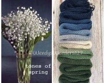 Gradient Yarn, Hand Dyed Yarn, Yarn, Fingering Weight Yarn, Blue Baby's Breath