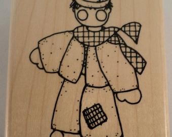 Jrl Design Clost To My Heart Little Sailor Boy Kid Wooden Rubber Stamp