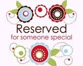 Reserved Listing for Nikki