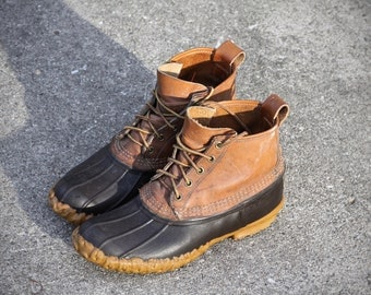 Vintage LL Bean Boots - Ankle length mid - Men's 7 to Women's 8 or 9 Made in Maine, USA - Excellent condition