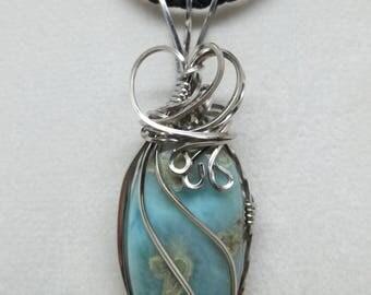 Larimar Gemstone Pendant / Necklace