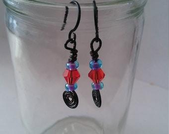 Spunky Bead Dangle Earrings