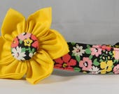 Dog Collar with Flower -  Flower Bunch, Red - All Sizes