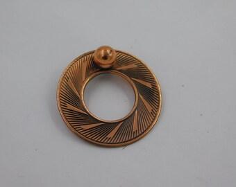 Vintage 1960's Modernist Copper Brooch or Pin dr64