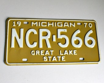 MICHIGAN State License Plate | Vintage Michigan License Plate | 1970 Michigan License Plate | License Plates | Michigan License Plate