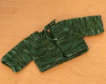 Waldorf Doll Knit Sweater for 15/16 Inch Waldorf Doll  **Verde Adriana**