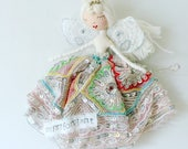 C H R I S T M A S  F A I R Y / A N G E L Beautifully handmade with treasured scraps of vintage and antique fine haberdashery and lace