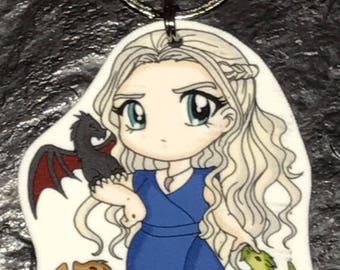 Daenerys Targaryen - Game of Thrones Keychain, Necklace, Earrings, Charm
