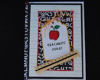 Teachers Rule- Blank Card and Coordinating Envelope