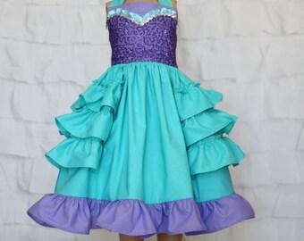 Girls Ariel Sparkle Dress