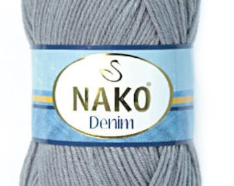 Nako Denim, Jeans yarn, Bulky yarn, cheap yarn, cotton yarn, acrylic yarn, 400 grams, 4 skeins, big yarn