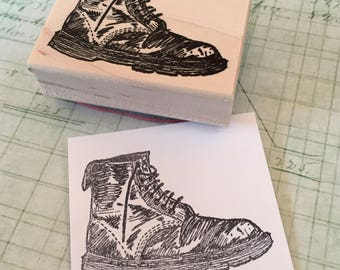 Boot Rubber Stamp