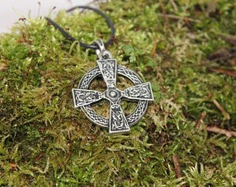 Celtic Cross, silver finish pendant