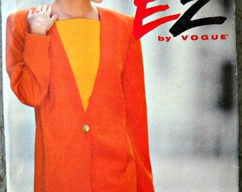 Vogue Ultra EZ 8276, Misses Jacket and Dress pattern, sizes 12, 14, 16, Factory Folded Uncut, Vintage 1992