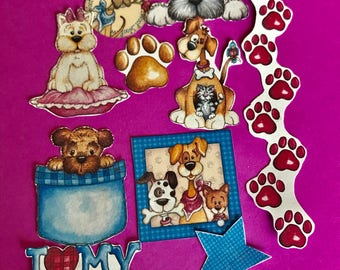 I Love My Dog 2 set of 13 decorative planner stickers. Will fit MOST planners