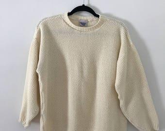 Vintage 90's Cream Sweater