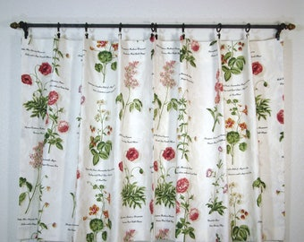 Waverly Custom Cafe Curtains Williamsburgh Cafe Curtains Kitchen Cafe Curtain Botanical Cafe Curtains 1pr. 35x29
