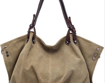 Large Canvas Hobo Bag / Purse