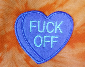 Snarky Conversation Heart Sew-On Patch - F*** Off