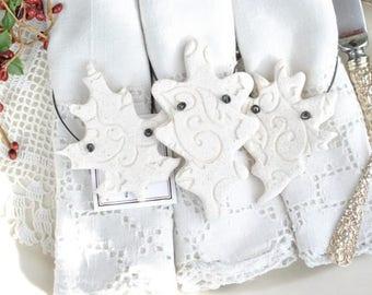 Autumn Fall Wedding / Baptism Favors Leaves Salt Dough Leaf Ornaments Set of 10