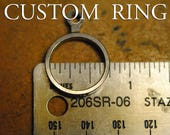 RESERVED pattern band, no center stone - Fitz Ring