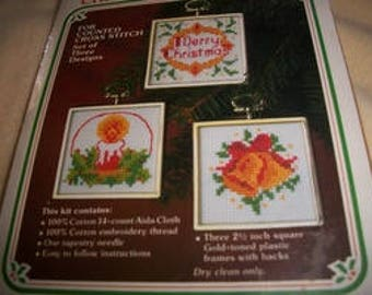 Wonder Art Christmas Ornament Cross Stitch Kit
