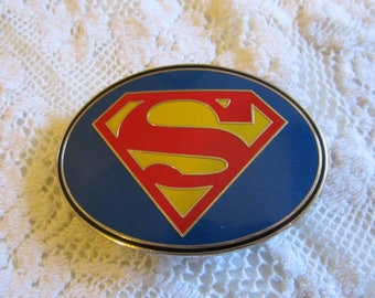 Vintage Superman Mens Belt Buckle