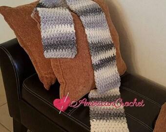 Grey Skies Scarf Crochet Pattern