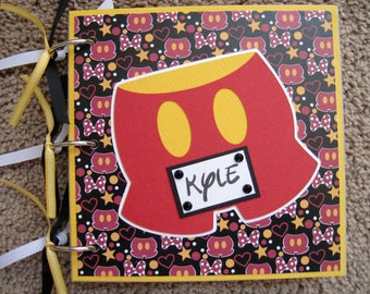 Custom Order for Keri - 3 Disney Autograph Books with Acrylic Covers and Chistmas Papers - Mickey Mouse Pants Icon