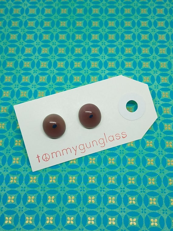 Lavender and Blue Glass Stud Earrings