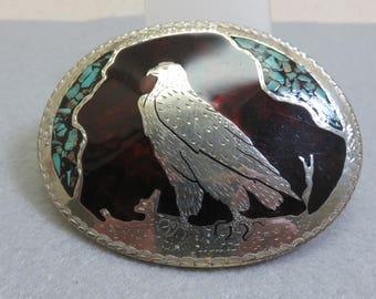 Fabulous Silver Eagle Belt Buckle,  Alpaca Silver Buckle,  Vintage