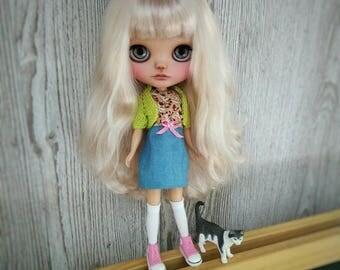 Blythe custom doll OOAK blonde hair
