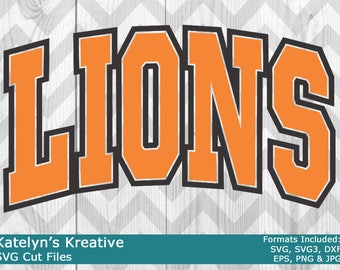 Lions Arched SVG Files