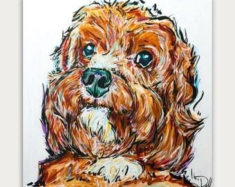 Custom Dog Paintings, Colorful Art, Acrylic On canvas, Wall Decor, Home Decor