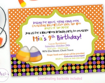 Personalized Halloween Costume Party Invitation, Halloween Birthday Invitation Costume Party, Kids Halloween Birthday Invitations, Printable