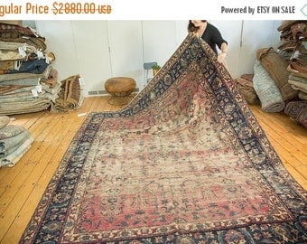 Reserved 10% OFF RUGS 8x10 Antique Yazd Carpet