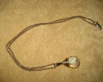Floating Opal Necklace Vintage