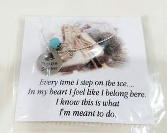 Figure skating Ice skating necklace Ice skate necklace Figure skating gift Figure skater necklace Ice skate Figure skater gift Ice skating