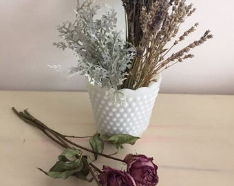 Milk Glass Ice Bucket/Vase
