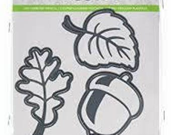 Darice LEAVES and ACORN Set of 3 Fall Die Cuts Embossing Essentials, Cut, Emboss & Stencil