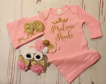 baby girl coming home outfit, newborn baby, take home outfit, sparkling new, baby, outfit, clothes newborn outfit, shirt, name, brand new